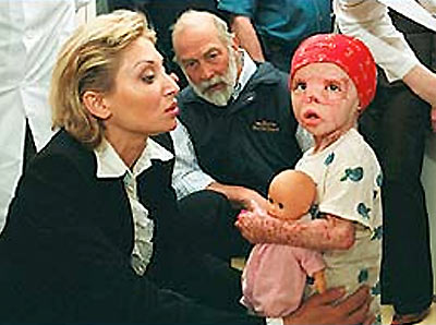 Prince Michael visits the Speransky Hospital, Moscow, as Patron of the Children's Fire & Burn Trust- June 2003. Photograph © David Chancellor